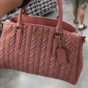 NWT Coach Limited Ed Sage Carryall Leather Purse